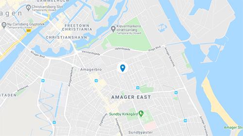 Holmbladsgade Map