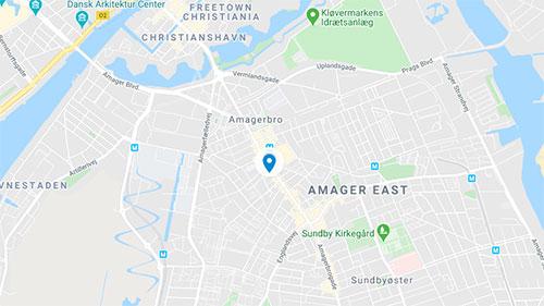 DIS Kollegier Amagerbrogade 62 Map
