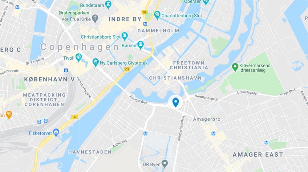 DIS Kollegier - Stads Map