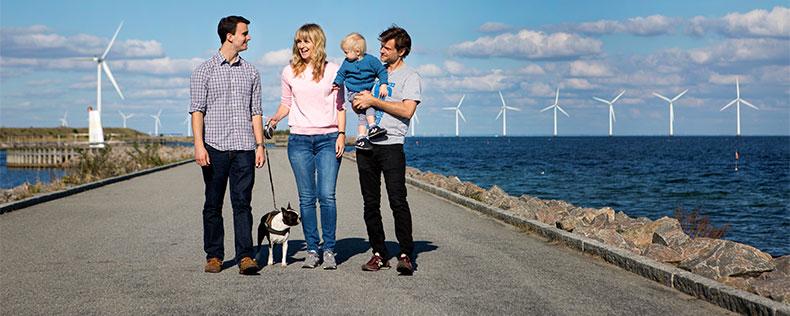 Værtsfamilie i DIS med hjemmeboende børn