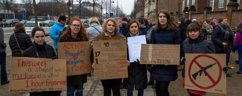 Studerende til March for Our Lives demonstration